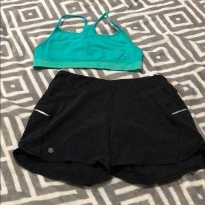 Athleta girl shorts & sports bra set xl/14